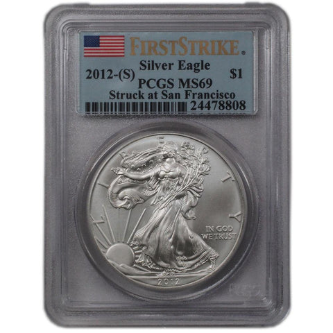 2012-S First Strike American Silver Eagle in PCGS MS 69