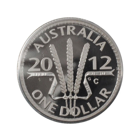 2012 Australian Wheat Sheaf Dollar Silver Proof Coin - Gem Proof in OGP