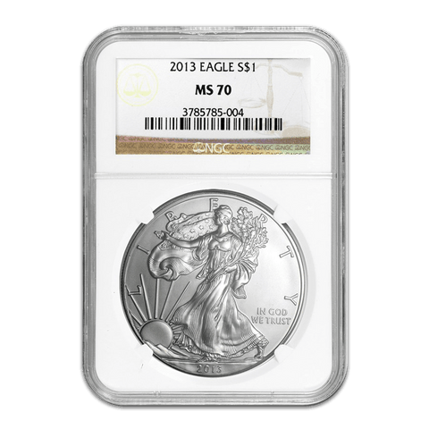 2013 American Silver Eagles in NGC MS 70