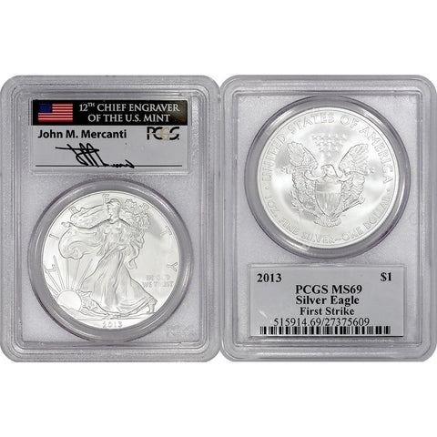 2013 American Silver Eagle - PCGS MS 69 First Strike Mercanti