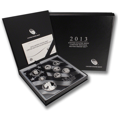 2013 US Mint Limited Edition Silver Proof Set - New In Original Box with COA