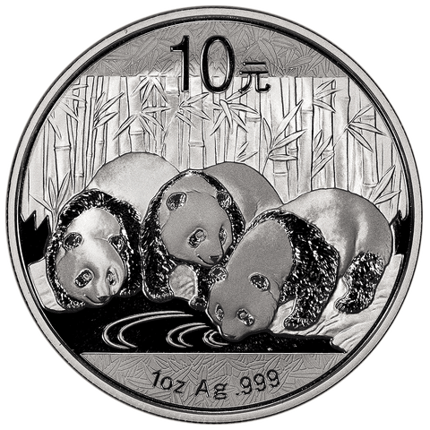 2013 China Silver 10 Yuan Panda 1 oz .999 Silver - Gem Uncirculated in Flip