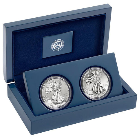 2013-W West Point 2-Coin American Silver Eagle Set - Gem in OGP