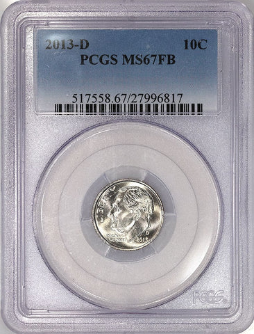 2013-D Roosevelt Dime - PCGS MS 67 FB (Full Bands)