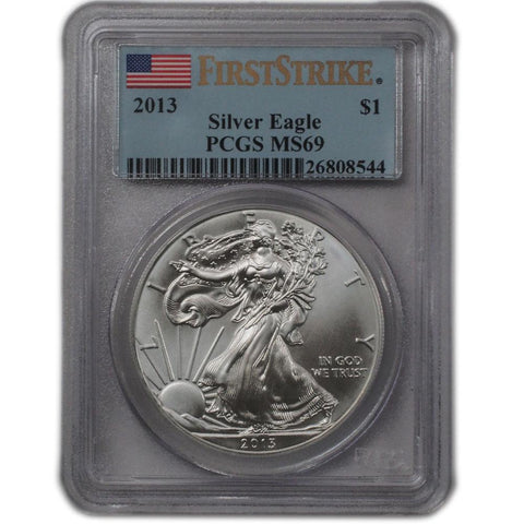 2013 American Silver Eagle in PCGS MS 69