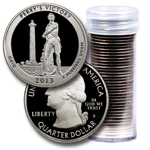 40-Coin Roll of 2013-S Perry's Victory America The Beautiful Clad Proof Quarters - Directly From Proof Sets