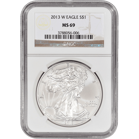 2013-W Burnished American Silver Eagles in NGC MS 69