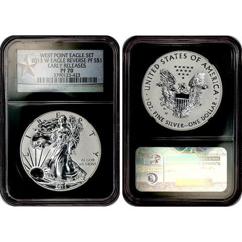 2013-W Reverse Proof American Silver Eagle in NGC PF 70