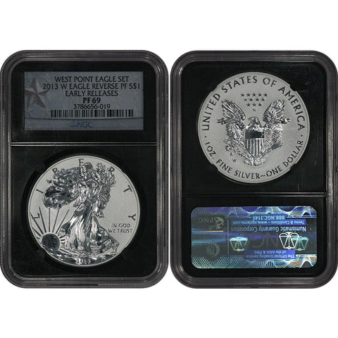2013-W Reverse Proof American Silver Eagle in NGC PF 69