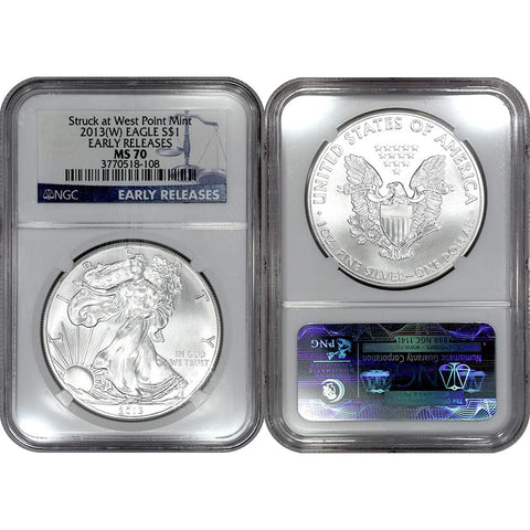 2013(W) American Silver Eagle - NGC MS 70 Early Release