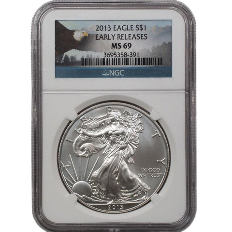 2013 American Silver Eagle ER in NGC MS 69