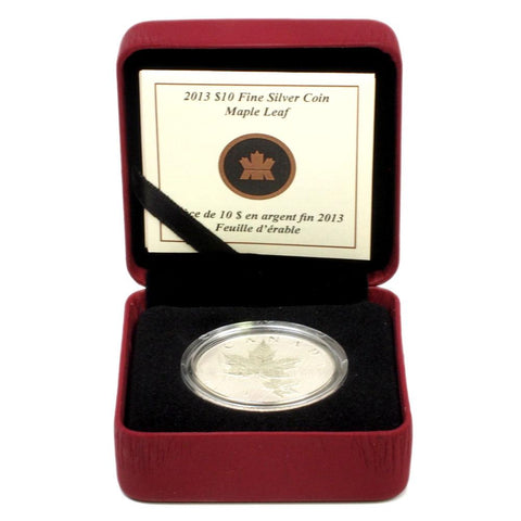 2013 Canada $10 Maple Leaf Proof Silver Coin - Gem Proof in OGP w/ COA