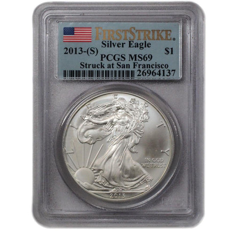 2013-S American Silver Eagle in PCGS MS 69