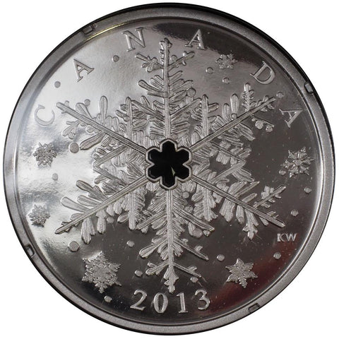"2013 Canadian $20 Silver Proof ""Winter Snowflake"" Coin - Gem Proof in OGP"