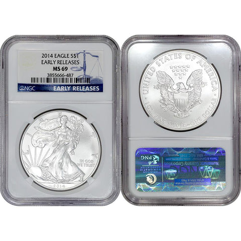 2014 American Silver Eagle - NGC MS 69 Early Release