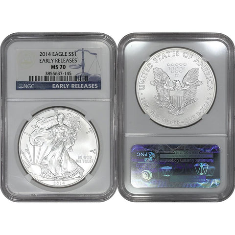 2014 American Silver Eagle - NGC MS 70 Early Release