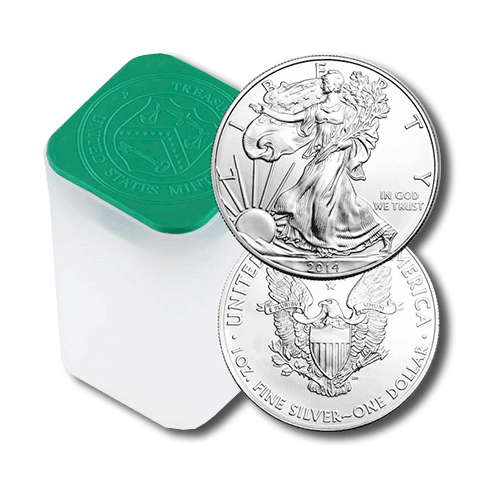 2014 American Silver Eagles, Original Mint Roll of 20 Coins