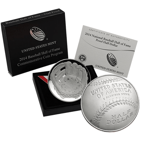 2014 Baseball Hall of Fame Commemorative Half Dollars - In Original Box with COA