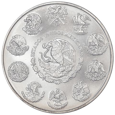 "2014 Mexico 1 Onza ""Libertad"" 1 oz Silver KM.639 - Gem Brilliant Uncirculated"