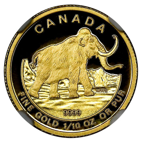 2014 Canada $5 10th Ounce Gold Woolly Mammoth  - NGC PF 70 UCAM ER