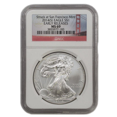 2014-S American Silver Eagle ER in NGC MS 69