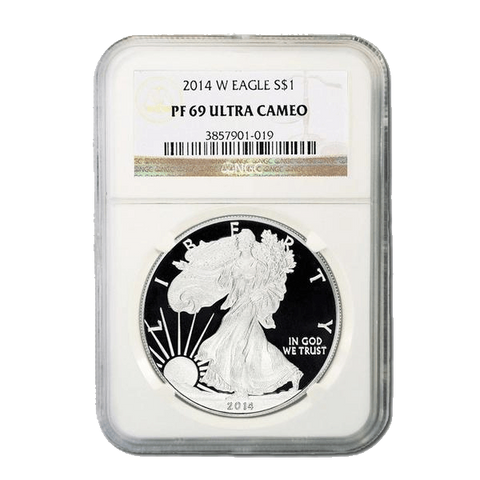 2014-W Proof American Silver Eagle - NGC PF 69 Ultra Cameo