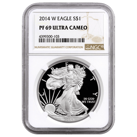 2014-W Proof American Silver Eagles in NGC PF 69