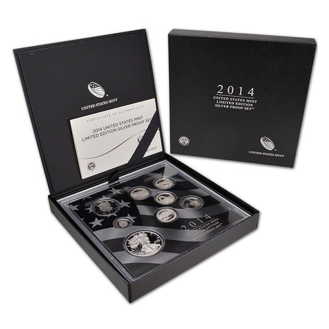 2014 US Mint Limited Edition Silver Proof Set - New In Original Box with COA
