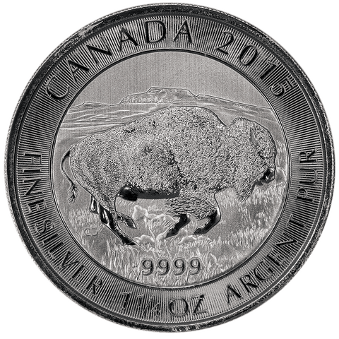 2015 Canada Silver Bison 1.25 oz .9999 Silver - Gem Brilliant Uncirculated