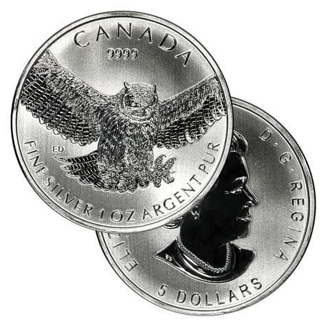 2015 Canada Great Horned Owl 1.0 oz .9999 Silver - Gem Brilliant Uncirculated