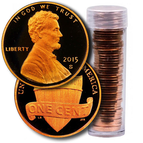 1 Roll of 2015 D Lincoln Shield Cents Sixth in the Series BU 50 Coins