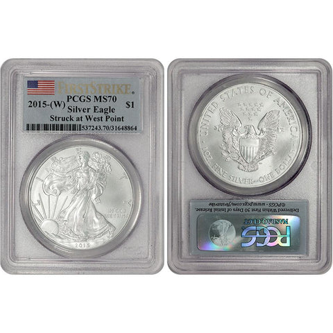 2015(W) $1 American Silver Eagle - PCGS MS 70 - West Point Mint
