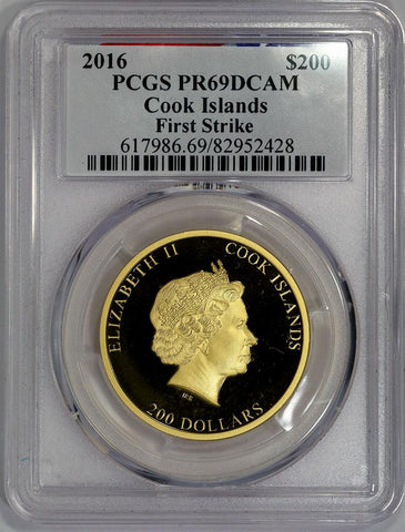 2016 Cook Island Reagan Legacy Proof Gold 3-Coin Set PCGS PR 69 in Box w/ COA