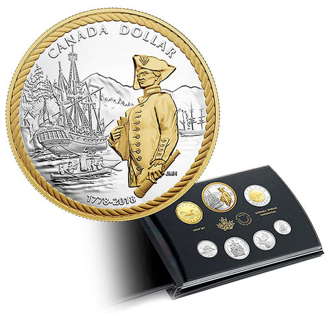 2018 Canada 7-Coin 240th Anniversary of Captain Cook at Nootka Pure Silver Proof Set in OGP w/ COA