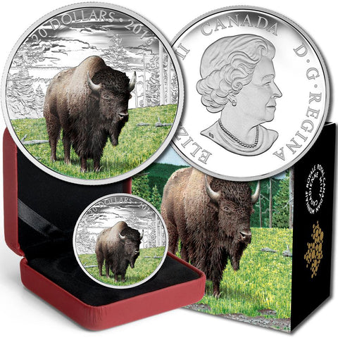 2016 Canada $20 Benevolent Bison .9999 1 oz Silver Coin - Gem in Box w/ COA