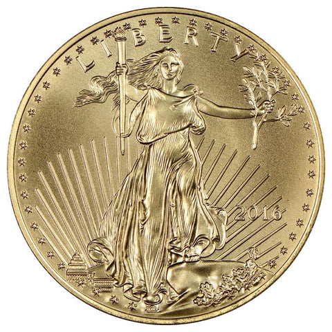 2016 $25 American Gold Eagle - 1/2 oz Net Pure Gold - Gem Uncirculated