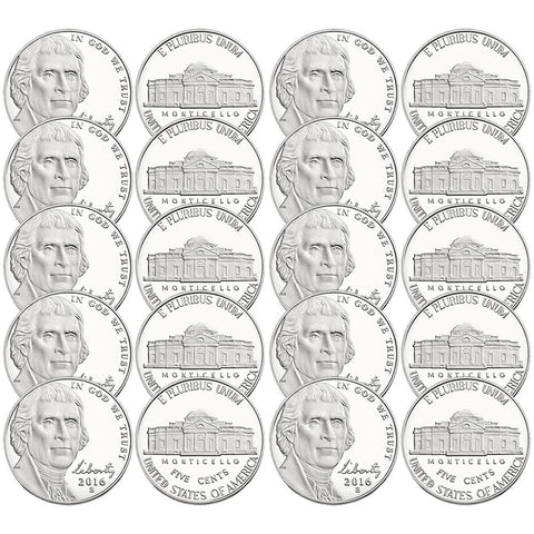 40-Coin Rolls of Original Proof Nickels Directly from Proof Sets 1962-2017