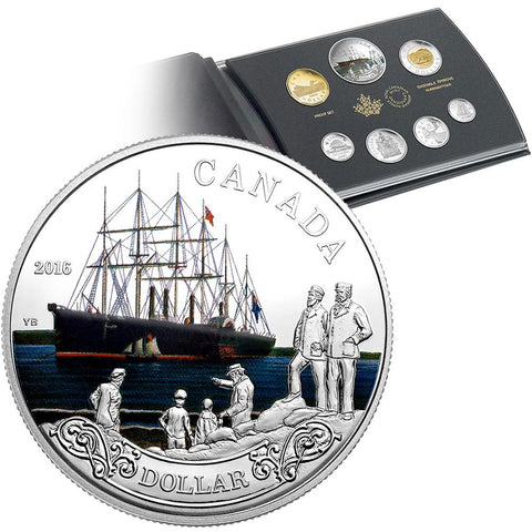 2016 Canada 7-Coin 150th Anniv. Transatlantic Cable Silver Dollar Proof Set in OGP w/ COA
