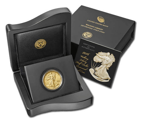 2016-W Centennial Gold Walking Liberty Half in OGP with COA