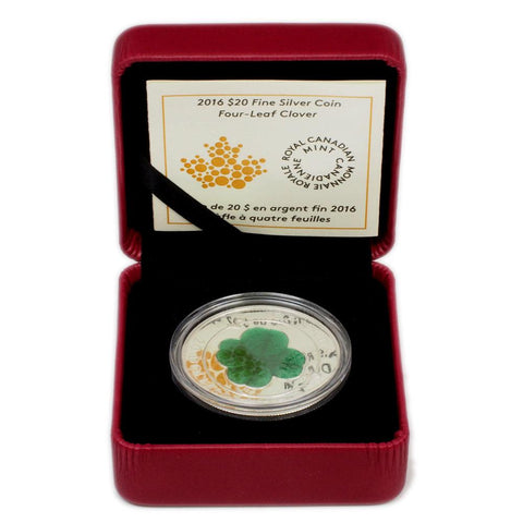 2016 $20 Canadian Four-Leaf Clover - Gem Proof in OGP w/ COA