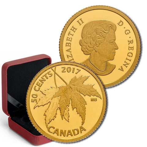 2017 Canada 50 Cents 1/25 oz Gold Maple Leaf Coin - Gem Proof in OGP