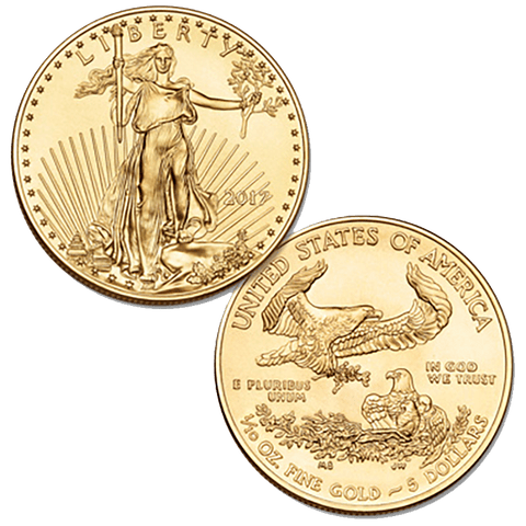 2017 $5 10th Ounce American Gold Eagles - PQ Brilliant Uncirculated