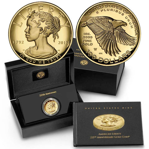 2017-W $100 American Liberty 1 oz Gold High Relief Coin - Gem in OGP w/ COA