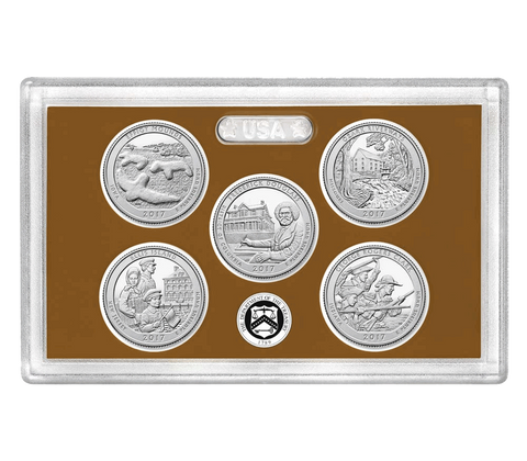 2017 Clad Proof 5-Coin National Park Quarter Sets in OGP