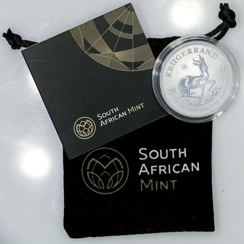 2017 South Africa 1 oz First Silver Krugerrand Coin - Mint Bag/Cap & COA