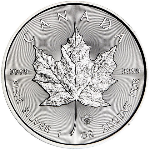 2015 1 oz Canadian Silver Maple Leaf $5 Coin 1 Troy Ounce 9999 Fine Silver