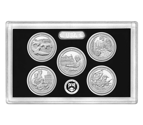 2017 Silver Proof 5-Coin National Park Quarter Sets in OGP