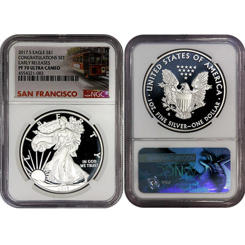 2017-S Proof American Silver Eagle Congratulations Set - NGC PF 70 UCAM Early Release