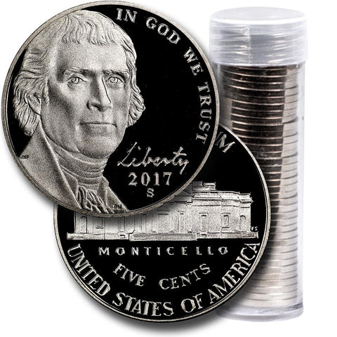 40-Coin Roll of 2017-S Proof Jefferson Nickels - Directly From Proof Sets