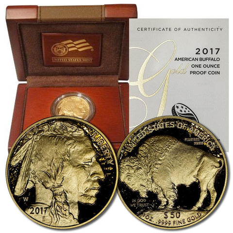2017-W Proof $50 .9999 One Ounce Gold Buffalo in OGP